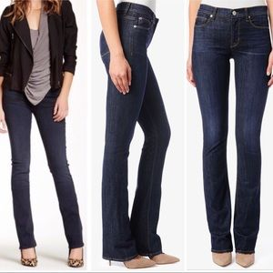 NWT HUDSON ELLE MID RISE BABY BOOT CUT JEANS